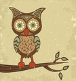 Retro style owl vector image vector image