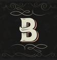 retro style western letter design letter b vector image vector image