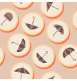 Seamless background with umbrellas vector image