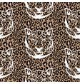 seamless pattern with cheetah animal print vector image vector image