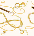 seamless vintage pattern with chains vector image vector image