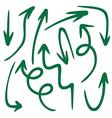 set of arrow 5 1 vector image