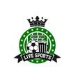 soccer football sport bar pub icon vector image vector image