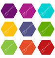 spatular icons set 9 vector image vector image