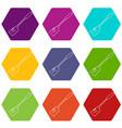 spatular icons set 9 vector image vector image