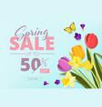 spring sale advertizing background banner vector image