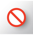 stop sign isolated on transparent background red vector image vector image