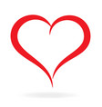 stylized asymmetrical valentines love heart vector image vector image