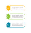 three steps infographic elements step button vector image