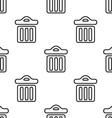 trash bin seamless pattern vector image vector image