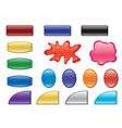 vector color buttons with different forms vector image