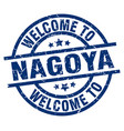 welcome to nagoya blue stamp vector image vector image