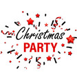 white christmas party card with stars vector image