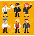Different Businessmen Characters vector image