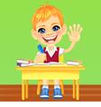 happy smiling schoolboy vector image