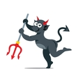 imp with trident Cartoon vector image