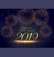 2019 celebration fireworks beautiful background vector image vector image
