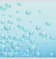abstract background with bubbles of the water vector image vector image