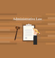 administrative law concept with hand writing vector image