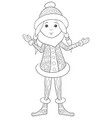 adult coloring book page a cute snow-white image vector image vector image