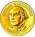 american money gold coin one dollar vector image