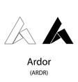 ardor black silhouette vector image vector image