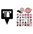 ATM Pointer Flat Icon with Bonus vector image vector image