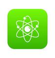 atom icon green vector image vector image
