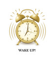 back to school background with alarm clock and vector image vector image