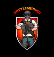 battleground insignia vector image