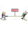 businessman pull vector image vector image