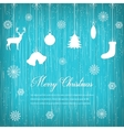 Christmas composition with snowlakes and vector image
