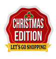 christmas edition sticker or label vector image vector image
