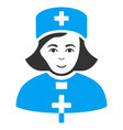 church female doctor flat icon vector image