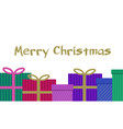 colorful christmas gifts present with bow ribbon vector image