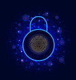 cyber security concept on abstract background vector image vector image