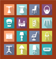 design furniture icons set interior- vector image vector image