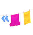 drying laundry color composition vector image