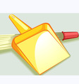 dust tray and broom vector image vector image