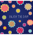 Enjoy the day greeting card vector image vector image