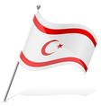 flag Turkish Republic of Northern Cyprus vector image vector image