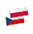 flags czech republic and poland on a white vector image vector image