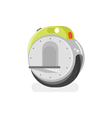 flat style of battery-powered electric unicycle vector image vector image