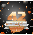 Forty two years anniversary celebration background vector image vector image