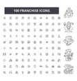 franchise editable line icons 100 set vector image vector image