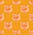 funky wolf smiling seamless pattern vector image