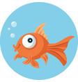 funny goldfish vecotr cartoon vector image