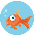 funny goldfish vector cartoon vector image