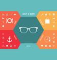 glasses icon symbol vector image