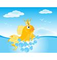 Goldfish seaborne vector image vector image
